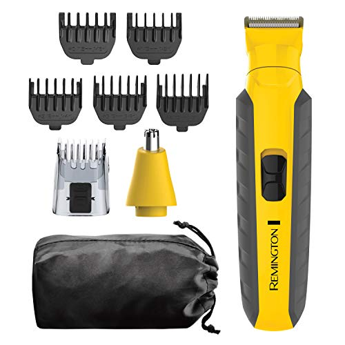 Remington Virtually Indestructible All-in-One Grooming Kit, Yellow, PG6855