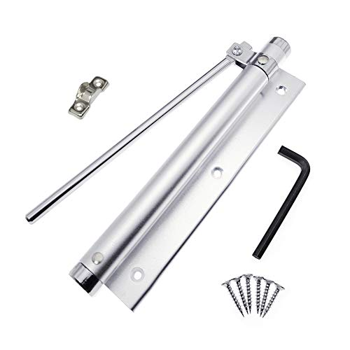 YUOIP® Leichte Aluminium-Legierung Türschließer Einstellbare Kraft Aufputz montiert Automatisches Schließen Tür 40kg (1 Stück)