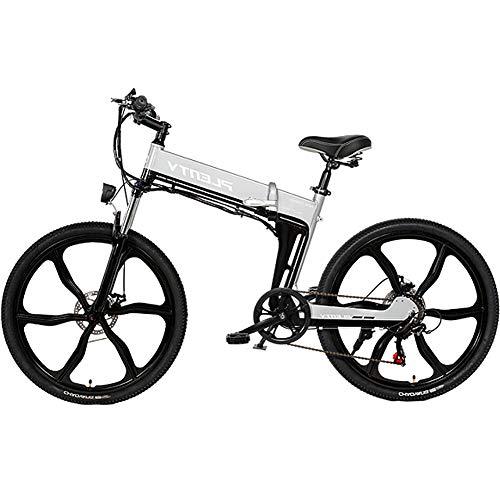 HAOYF Bicicleta Montaña Eléctrica Plegable, Bici Eléctrica De Rueda Integrada De Aleación...