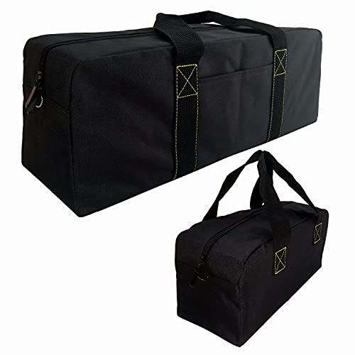 Copechilla borsa porta attrezzi portatile nero 2PCS,Grandi e piccole-46X13X16CM/34X12X14CM,Materiale impermeabile,utensili elettrici e manuali,borse degli attrezzi emergenza per bagagliaio dell'auto