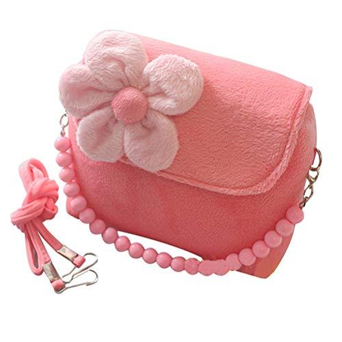 YeahiBaby Beau Petit Sac de Fleurs tridimensionnelles pour Enfants Maternelle Messenger Bag Sac à Main pour Enfants (Rose)