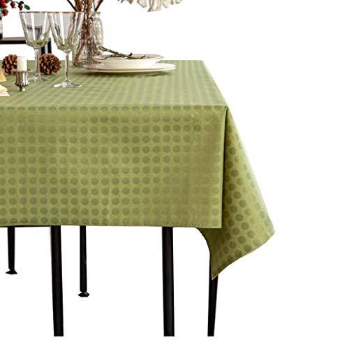 Zhuobu Europese Fabric Tabel Waterproof Anti-Scalding Olie-Proof tafelkleed zonder te wassen moderne minimalistische rechthoekige salontafel tafelkleed Mat (Green Point -51,2 * 70,9 inch, Alleen tafel