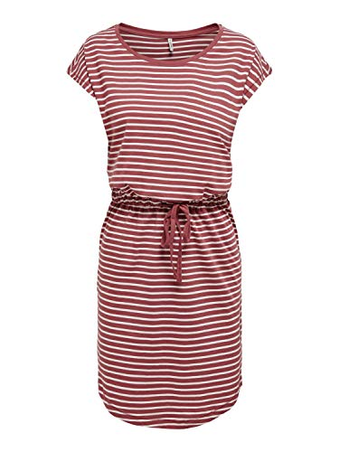 ONLY Womens ONLMAY Life S/S NOOS Casual Dress, Apple Butter, S