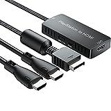 Convertidor de Playstation a HDMI Adaptador con Cables para PS 2 y PS 1 Compatible con 1080P / 720P Color Staturado para PS1/2/3 Adaptador Cable PS1 PS2 a HDMI para Consolas Monitor HDTV