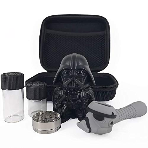 5 Pack The Empire Herb Grinder Gift Set Nerdy Star Wars Gift Kit with Awesome Accessories plus Travel Size Carrying Case