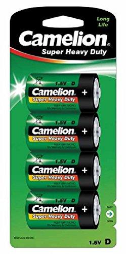 Camelion 10000420 Super Heavy Duty Batterien R20/ Mono/ 4er Pack