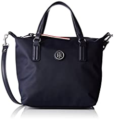 Idea Regalo - Tommy Hilfiger Poppy Small Tote, Borsa a Tracolla Donna, Blu (Tommy Navy), 15.5x25.5x33 Centimeters (B x H x T)