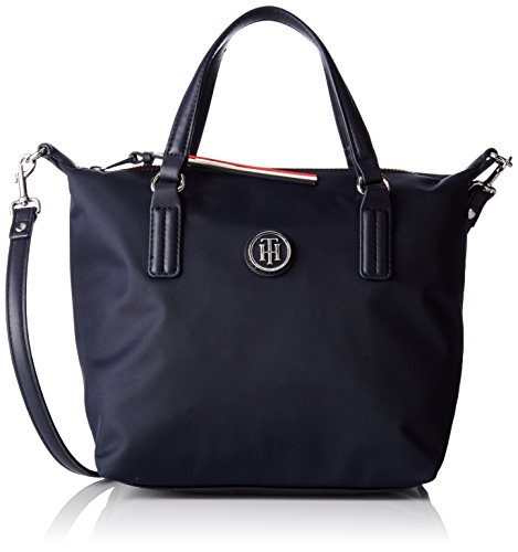 Tommy Hilfiger Poppy Small Tote, Bolso totes para Mujer, Azul (Tommy Navy), 23x15x22 cm (W x H x L)