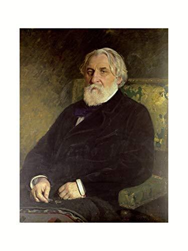 Ilya Repin - Portrait of Ivan Turgenev Print 60x80cm