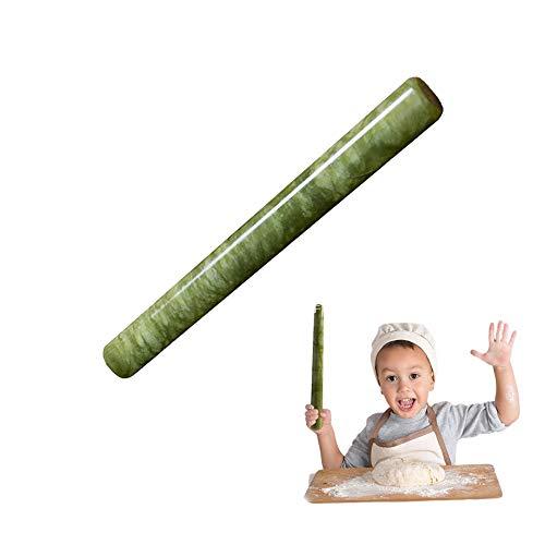 9-Zoll-Rolling Pin, Vintage & Schwere Nonstick Teigrolle Für Dumpling, Tortillas, Pizza, Pasta, Ravioli, Nudel, Kinder Backen Gebäck Brot - Stein Marmor Granit Einzigartige Dough Roller