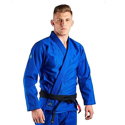 Manto Base BJJ Gi Blue Navy V2 - Kimono brasileño con Uniforme de Jiu Jitsu, Color Azul Marino, tamaño a1l