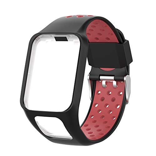 YOKING - Cinturino di ricambio in silicone bicolore per TomTom Run-ner 2 3 SP-ARK 3 GPS Watch Fit-Ness Tracker