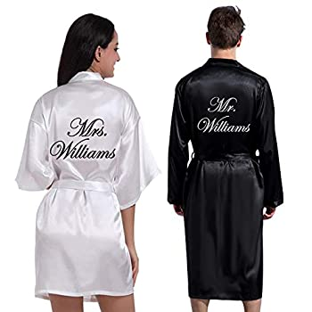 Personalized Mr.& Mrs.Bridal Robe His and Hers Couples Set Robes Anniversary Housewarming Bridal Gift for Bride & Groom