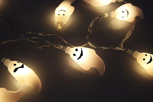 Velice Battery Operated LED Fairy String Lights 20 Ghost Lights Halloween Christmas Decoration Lights (Ghost Light)