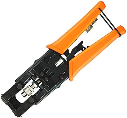 Deluxe Coax Cable Crimping Tool Compression Connector Adjustable Crimper for F BNC RCA RG58 product image