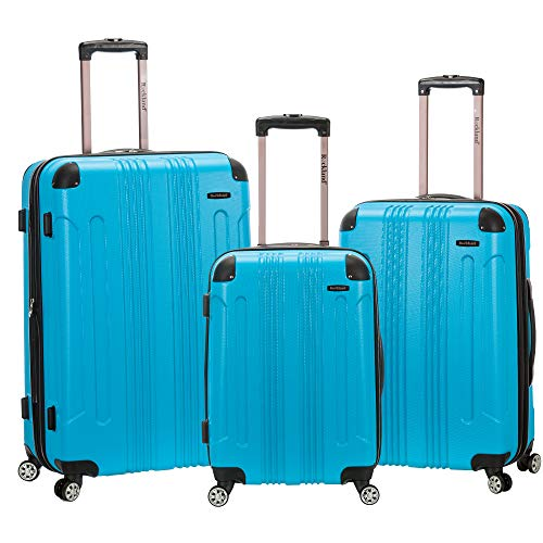 Rockland London Hardside Spinner Wheel Luggage, Turquoise, 3-Piece Set (20/24/28)