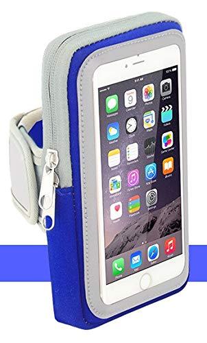 Sport-Armband Oberarm Tasche passend für Sony Xperia L1 / L2 / L3 / L4 / XA1 Plus/XZ / XZ2 Premium Handy Halterung Fitness-Hülle, Tasche mit großem Fach Jogging, Dealbude24 Arm-Tasche Groß Blau