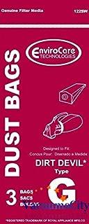 Dirt Devil Hand Vacuum Cleaner Type G Bags 3 Pk Aftermarket Part # 122SW