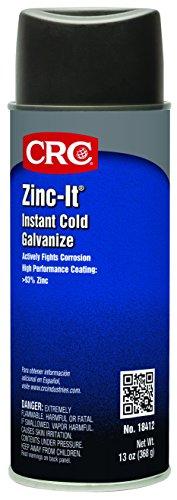 CRC Zinc-It Instant Cold Galvanize, 13 Wt Oz, (Pack of 12),...
