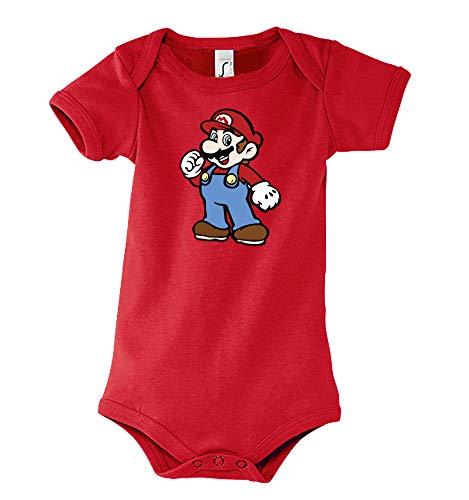 TRVPPY Baby Kurzarm Body Strampler Modell Super Mario 2