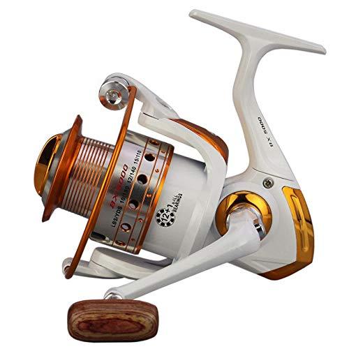 XXBFDT Mer Rapid Moulinet de pêche Eau salée Max Frein - Moulinet de pêche à Bascule en métal-Type 6000