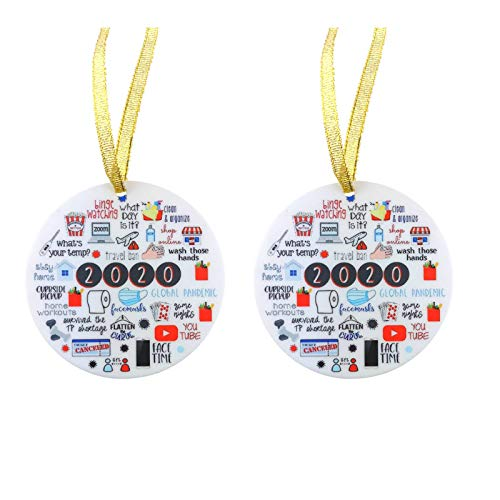 Christmas Ornament 2020/XMAS Decorations 2020 Year to Forget Christmas Ornament 2020 Santa Claus Ornaments Christmas Ornament Peace & Happiness Decorations