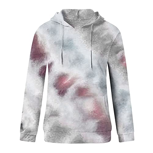 Uqiangy Hoodie Womens Classic Basic Hooded Athletic Top Lady Lightweight Casual Sweatshirt Blouse With Pocket,Multicolor (M-Grey, 12)