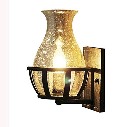 Retro industriële wandlamp Loft restaurant ingang slaapkamer bedlampje Amerikaanse gangpad magazijn balkon wandlamp,Black