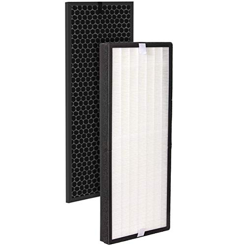 Fette Filter - Air Purifier True HEPA Replacement Filter Set Compatible with Rowenta PU6010 and PU6020 Intense Pure Air XL Purifier Series. Part Number XD6077U0 & XD6066 (1 True Hepa & 1 Active Carbon Filter Odor Eliminator)