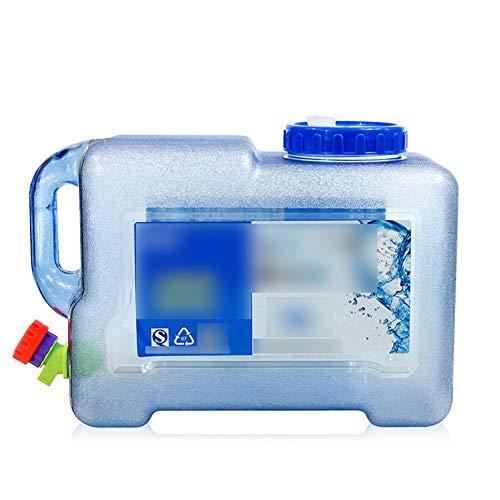 MNSSRN Cubo de Agua Potable de Viaje al Aire Libre, Cubo Cuadrado de Gran Capacidad portátil para Agua Potable para el hogar para el Tanque de Almacenamiento de Agua Vertical con el Grifo,22L