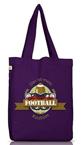 ShirtStreet American Football Kostüm für NFL Superbowl Fans, Größe: onesize,Dark Violet