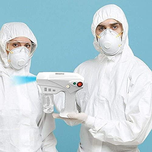 EW&HU Spray Desinfektion Gun Tragbare Spritzer Micro Nebelmaschine Tragbare Nano-Spritzpistole Blu-ray-Reinigungsterilisation Multifunktions-Nano-Dampfpistole für Home/Auto