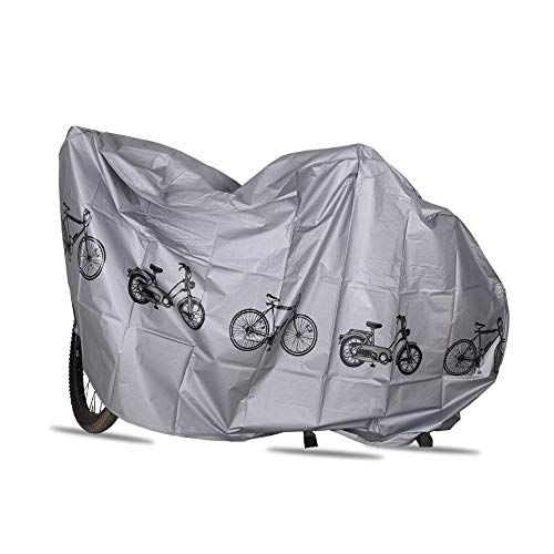 Volwco Fahrradabdeckung Fahrradabdeckung für den Außenbereich, wasserdicht, Regen, Sonne, UV-Staub, Winddicht, mit Loch, für Mountainbikes