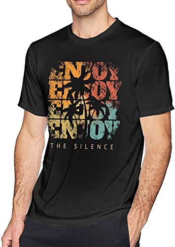 AYYUCY Camisetas y Tops Hombre Polos y Camisas Enjoy The Silence Men