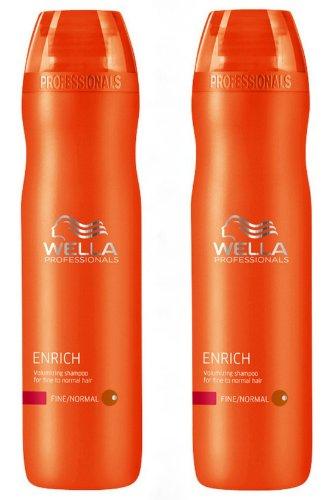 Wella Professionals Care Enrich Volumenshampoo für feines Haar 2x 250 ml