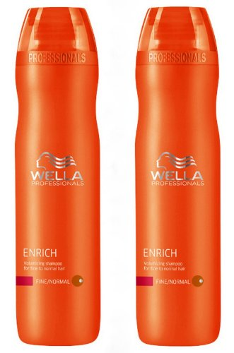 Wella Professionals Care Enrich Volumenshampoo für feines Haar 2x 250 ml