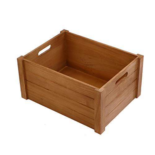 Zsnh opbergdoos, rechthoek massief hout opbergdoos speelgoed boodschappen doos opslag houten doos meerdere maten