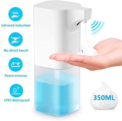 CICADAS Seifenspender Automatisch,Elektrischer Seifenspender,Berührungslos Schaumseifenspender mit Sensor Infrarot für Bad,Küche und öffentlicher,350ML