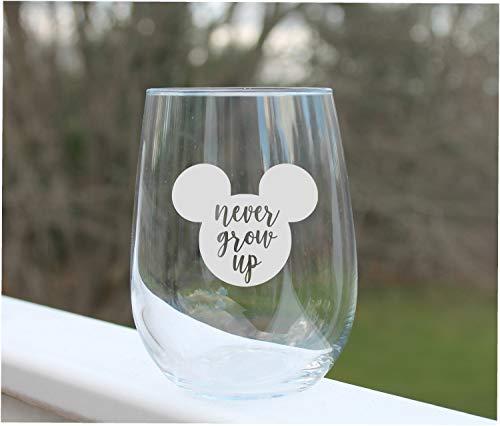 Copas de vino grabadas sin tallo Mickey Mouse
