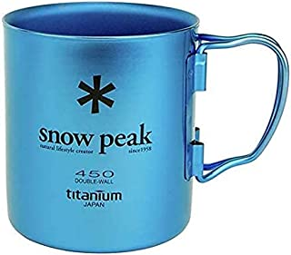 Snow Peak - Ti-Double 450 Mug, Japanese Titanium, Made in Japan, Ultralight for Camping and Backpacking