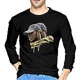 Luckyoung Stormzy Classic Men's Long Sleeve Round Neck T-Shirt Top Black L