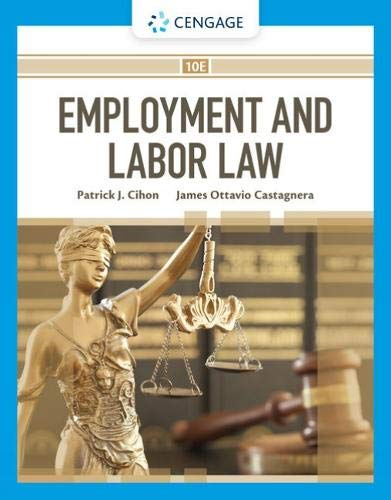 Compare Textbook Prices for Employment and Labor Law 10 Edition ISBN 9780357445136 by Cihon, Patrick J.,Castagnera, James Ottavio