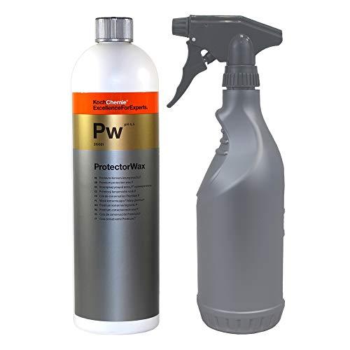 Koch Chemie PW Protector Wax 1 Liter Autowachs Versiegelung Sprüh wachs mit MC 750ml Sprühflasche