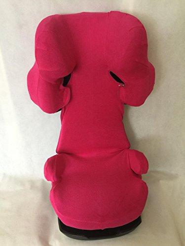 Sommerbezug Schonbezug für Cybex Solution X, X2, X-Fix,X2-Fix Frottee 100% Baumwolle pink