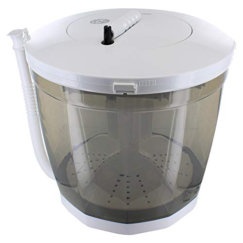 Khomo Gear - Lavatrice per biancheria e asciugatrice, centrifuga portatile, manuale, colore: bianco