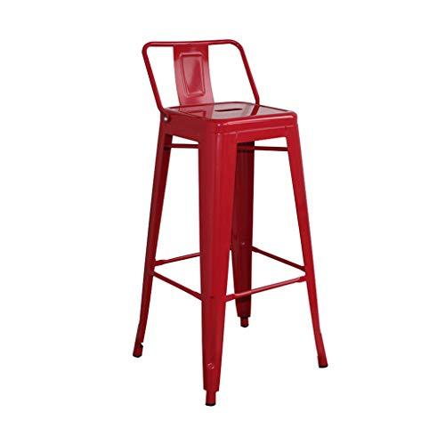 CYLQ barkruk, metaal, industriële, onderste rug tegen hoge stoel, voor kleine lunch in de keuken, stapelbaar, binnen en buiten, terrasmeubelen 4 kleuren, 3 maten