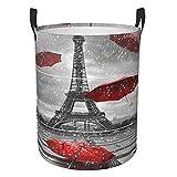 Ombrello volante con cesto portabiancheria Torre Eiffel per camera da letto, cesto portabiancheria sporco