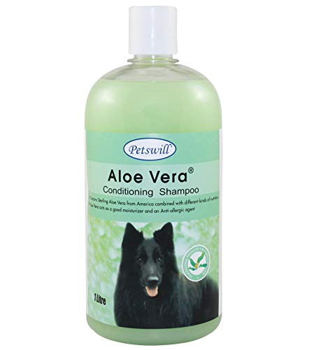 petswill Premium Aloe Shampoo with Natural conditioners and Tea Tree Oil 1 LTR (HINDUSTAN Deal Original PETSWILL Seller)
