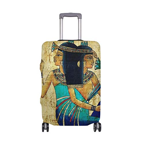 IUBBKI Travel Luggage Cover Ancient Egypt Female Party Festival Suitcase Protector Fits XL Washable Baggage Covers