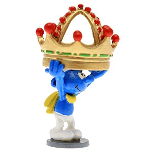 PIXI Figura de colección Pitufo sosteniendo una Corona 6422 (2016)